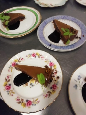 Chocolate can make for a messy meal... but every plate came back clean! This was even MORE guests' favourite course.